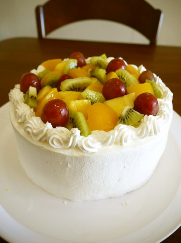 Fall Fruit Decorated Cake