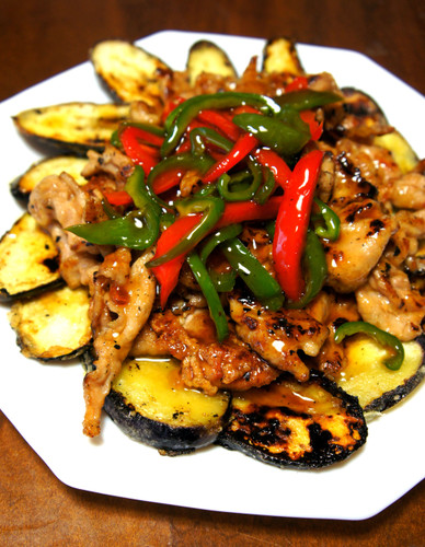 Done in 15 Minutes! Crunchy Pork and Eggplant with Sweet-Salty Sauce