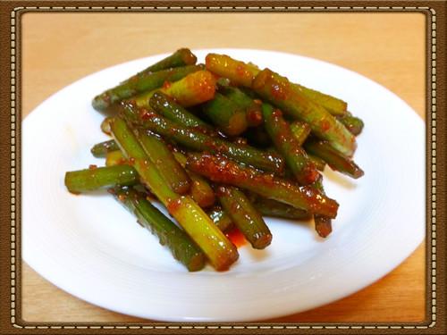Garlic Shoot Bokkeum (Korean-Style Sauté Dish)