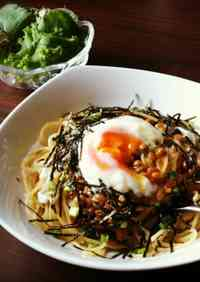Grated Daikon Radish & Natto Pasta