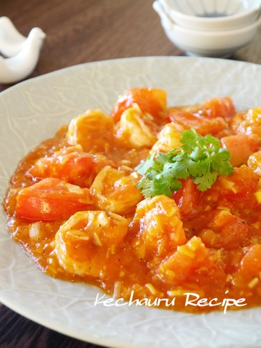 Spicy But Juicy Chili Shrimp With Tomato