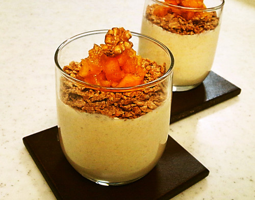 Light Autumn Mousse with lots of Persimmons