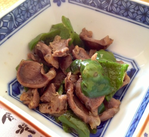 Drinking Appetizer in 5 Minutes Chicken Gizzard and Green Pepper Stir Fry
