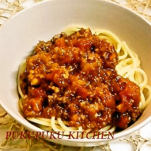 Meat Sauce Made from Canned Tomatoes