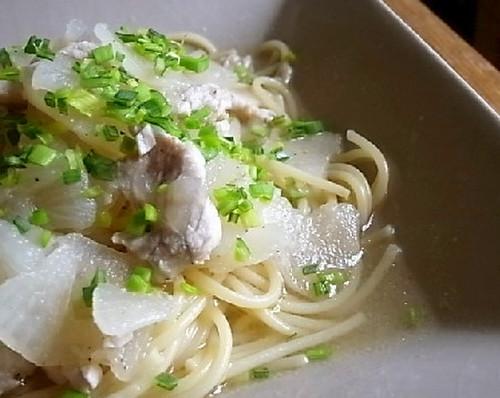 Yuzu Pepper-Flavored Turnip & Chicken Light Soup Spaghetti