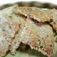 Crunchy Macrobiotic Sesame and Okara Crackers