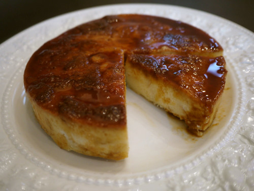 Bread Pudding Cake with Caramelized Bananas