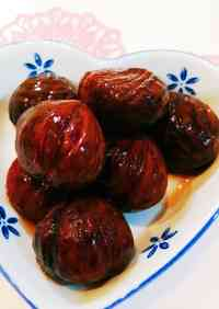 Chestnuts Simmered in their Inner Skins without Baking Soda