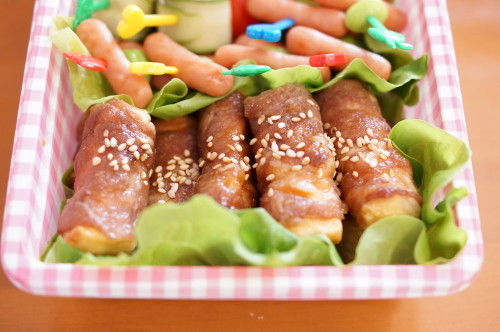 Great for Bento: Pork Rolls Wrapped in Fluffy White Hanpen Fishcakes