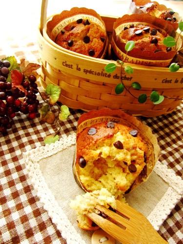 Banana × Caramel Cream Muffins