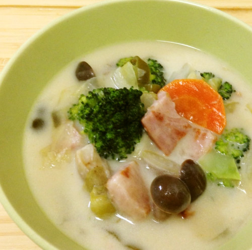 Bacon and Shimeji Mushroom Stew