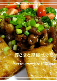 An Easy Chinese-style Dish with Pork Offcuts and Atsuage