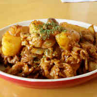 Barbeque Sauced Stir-fried Pork and Potatoes