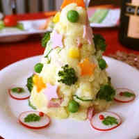 Potato Salad Christmas Tree