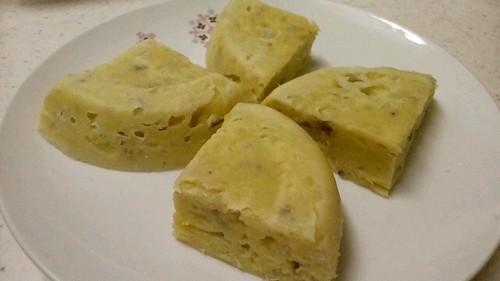 Microwaved Moist Steamed Banana Cake