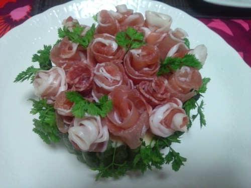 Cured Ham Rose Bouquet