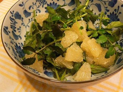 Watercress and Grapefruit Salad
