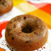 Christmas or Valentine's Day Baked Chocolate Donuts