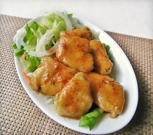 Chicken with Rich Oyster Sauce and Mayonnaise Sauce