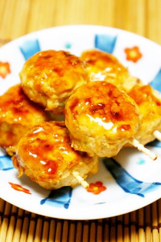 Chicken Tsukune Patties for Bento