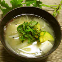 Zucchini and Sweet Onion Early Summer Miso Soup