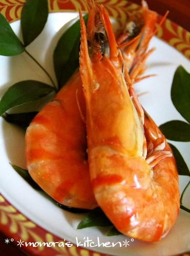 Stewed Glazed Shrimp (with Heads)