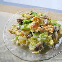 Delicious Maitake Mushroom, Cabbage & Scrambled Egg Salad