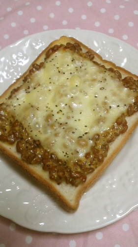 Natto Toast with Grainy Mustard and Mayonnaise