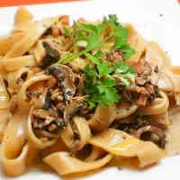 Homemade Pasta with Creamy Mushroom Sauce
