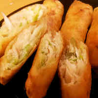 Very Easy Japanese Leek and Chicken Tenderloin Spring Rolls