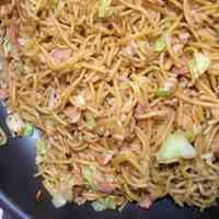 From Kansai Our Family's Sobameshi - Yakisoba Noodles with Rice Simple