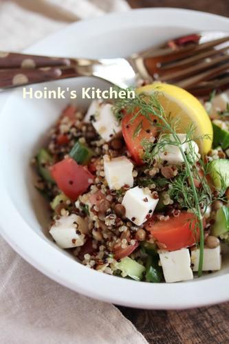 Mediterranean Quinoa & Lentil Salad