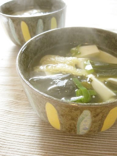 A Dude's Version of Abura-age and Wakame Clear Soup