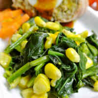 Sautéed Spinach and Corn (For Bentos Too)