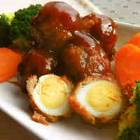 Quail Egg Meatballs in Sweet Vinegar Ankake Sauce