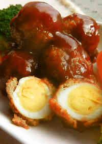 Quail Egg Meatballs in Sweet Vinegar Ankake Sauce