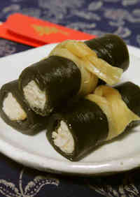 Kombu Rolls with Chicken Breast in a Pressure Cooker