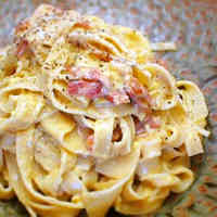 Rich Carbonara with Homemade Pasta
