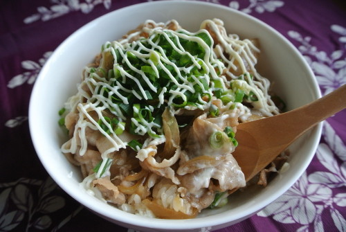 Scallion-Mayonnaise with Pork Rice Bowl