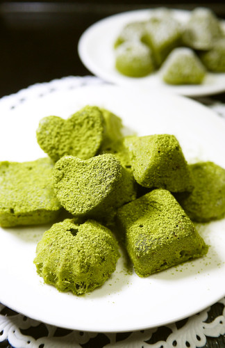 Mini Matcha Gateau au Chocolat in the Microwave