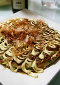 Our Family's Okonomiyaki Made with Flour