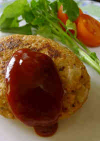 Vegan Soy Meat Herb Hamburger