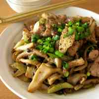 Mushroom and Chicken Sautéed in Whole Grain Mustard and Miso