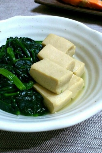 Stewed Freeze-Dried Tofu and Spinach