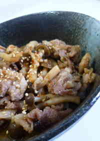 Sweet & Salty Pork and Shimeji Mushrooms