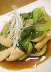 Chinese Style Squid & Bok Choy with Oyster Sauce