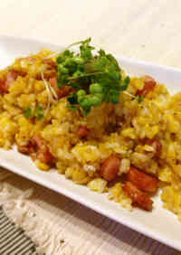 Easy Breakfast in Just 5 Minutes! Fried Rice with Sausage