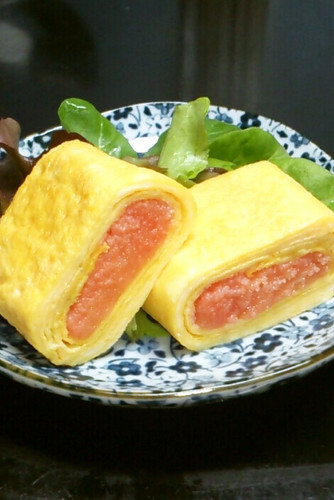 Tarako Tamagoyaki for your Bento or Appetizer