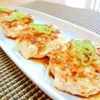 Chicken and Burdock Root Tsukune Patties with Mustard and Ponzu