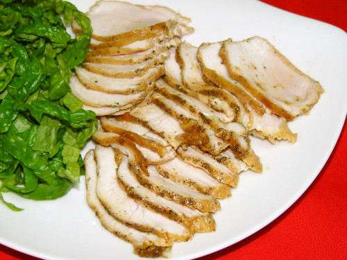 Chicken Breast with Soy Sauce Olive Oil Sauce
